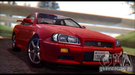 Nissan Skyline R-34 GT-R V-spec 1999 No Dirt для GTA San Andreas