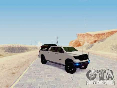 Toyota Tundra 2012 Semi-Off-road для GTA San Andreas вид слева