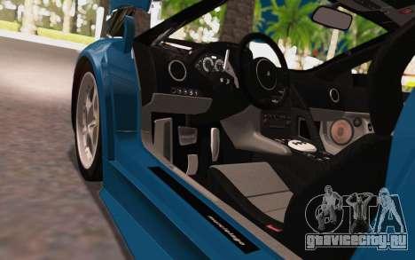 Lamborghini Murcielago 2005 для GTA San Andreas вид изнутри