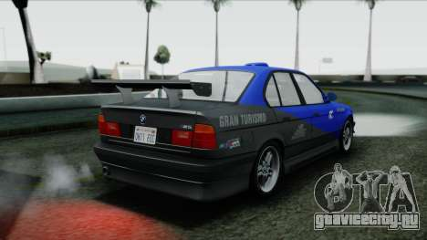 BMW M5 E34 US-spec 1994 (Full Tunable) для GTA San Andreas вид сверху