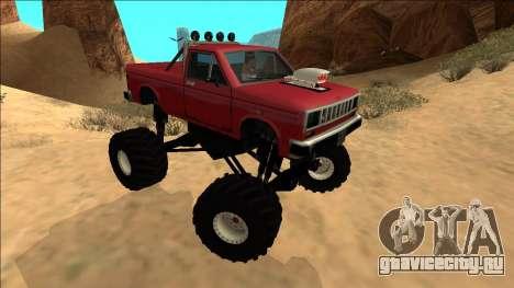 Bobcat Monster Truck для GTA San Andreas вид справа