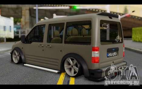 Ford Connect Rizeli для GTA San Andreas вид слева