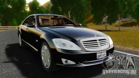 Mercedes-Benz S600L 2008 для GTA 4 вид справа