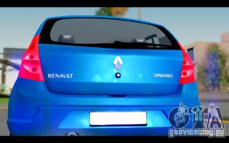 Renault Sandero для GTA San Andreas вид изнутри