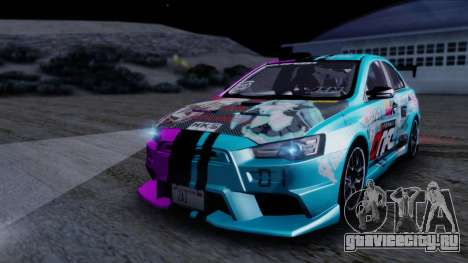 Mitsubishi Lancer Evolution X Tunable New PJ для GTA San Andreas вид сверху