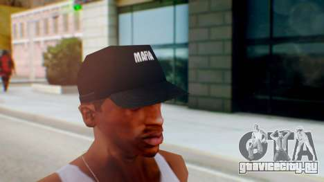 Mafia Cap Black White для GTA San Andreas второй скриншот