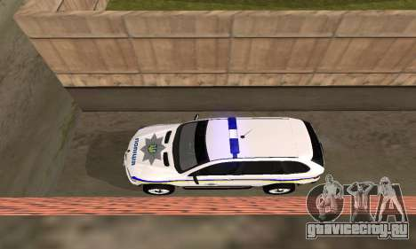 BMW X5 Ukranian Police для GTA San Andreas вид изнутри