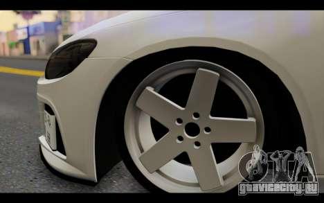 Volkswagen Scirocco для GTA San Andreas вид сзади слева