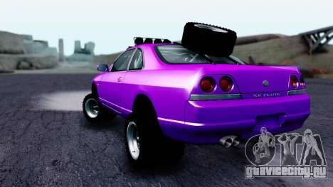 Nissan Skyline R33 Rusty Rebel для GTA San Andreas вид слева