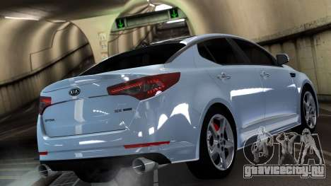 Kia Optima для GTA 4 вид сзади слева