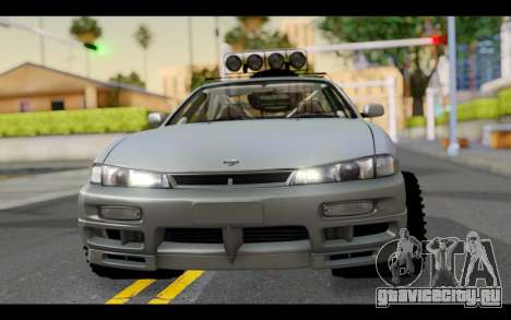 Nissan Silvia S14 Rusty Rebel для GTA San Andreas вид сзади