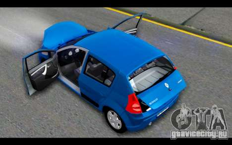 Renault Sandero для GTA San Andreas вид сверху
