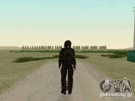 Русский солдат в противогазе для GTA San Andreas третий скриншот