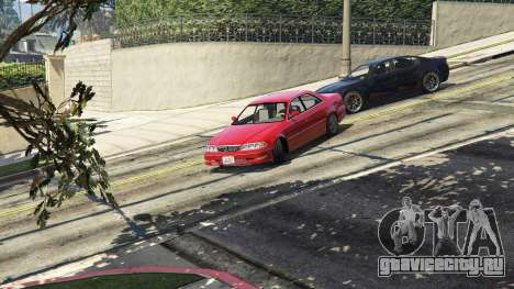 Toyota Mark II JZX100 Tunable для GTA 5 вид сзади