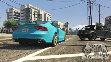 Audi RS7 для GTA 5 вид сзади справа