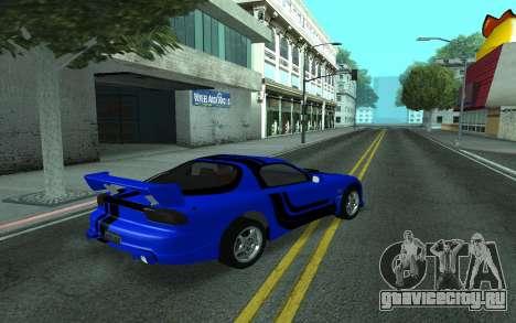 Mazda RX-7 Tunable для GTA San Andreas вид сверху