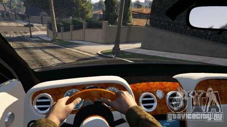 Rolls Royce Ghost 2014 для GTA 5 вид сзади справа