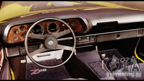 Chevrolet Camaro Z28 Special Edition для GTA San Andreas вид справа