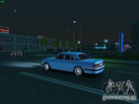 ГАЗ 3110 Волга для GTA San Andreas вид изнутри