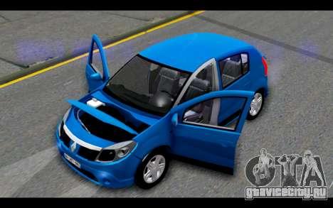 Renault Sandero для GTA San Andreas вид сбоку
