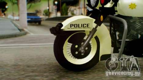 New Police Bike для GTA San Andreas вид сзади слева