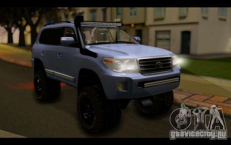 Toyota Land Cruiser 200 2013 Off Road для GTA San Andreas