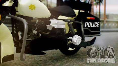 New Police Bike для GTA San Andreas вид справа