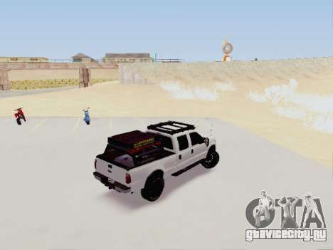 Ford F-250 Full Off-Road для GTA San Andreas вид сзади слева