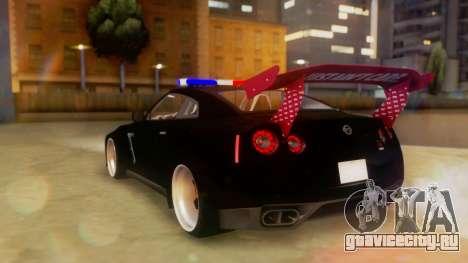 Nissan GT-R Police Rocket Bunny для GTA San Andreas вид слева