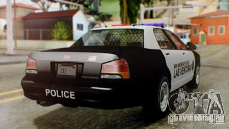 GTA 5 Police LV для GTA San Andreas вид слева