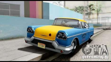 GTA 5 Declasse Cabbie v2 для GTA San Andreas вид справа