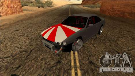 Nissan Silvia S14 Drift JDM для GTA San Andreas вид сзади