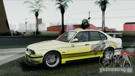 BMW M5 E34 US-spec 1994 (Full Tunable) для GTA San Andreas вид снизу