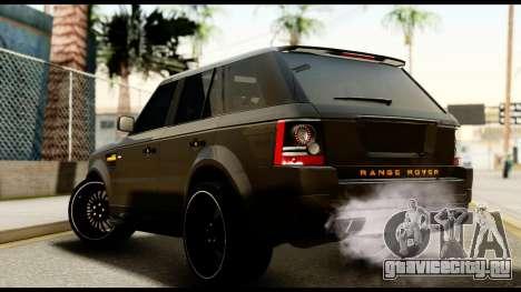 Range Rover Sport 2012 для GTA San Andreas вид слева