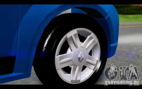 Renault Sandero для GTA San Andreas вид сзади слева