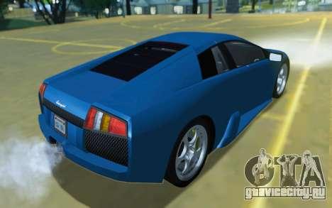 Lamborghini Murcielago 2005 для GTA San Andreas вид сбоку