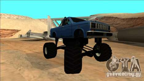 Bobcat Monster Truck для GTA San Andreas вид сзади