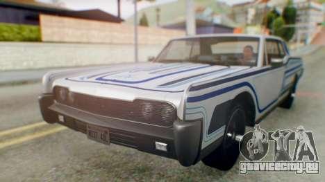 GTA 5 Vapid Chino Tunable для GTA San Andreas вид снизу