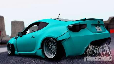 Toyota GT86 Rocket Bunny для GTA San Andreas вид слева