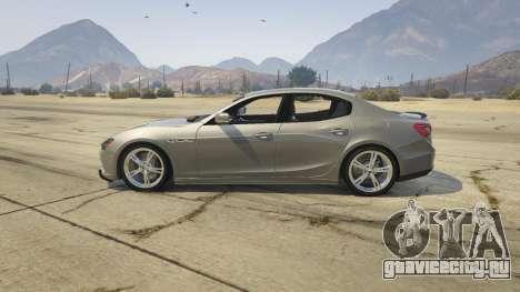 Maserati Ghibli S для GTA 5 вид слева