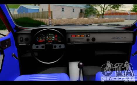 Renault 12 Toros для GTA San Andreas вид изнутри