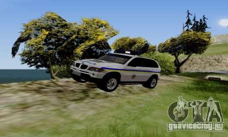 BMW X5 Ukranian Police для GTA San Andreas вид слева