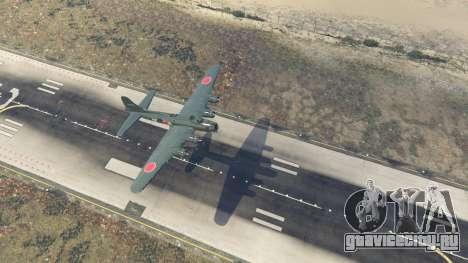 Boeing B-17 Flying Fortress для GTA 5 четвертый скриншот