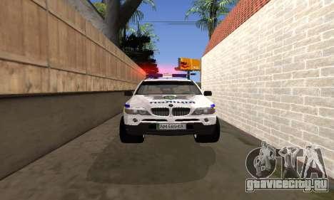 BMW X5 Ukranian Police для GTA San Andreas вид сбоку