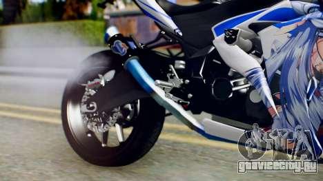 Yamaha YZF R-25 Kos-Mos Xenosaga Itasha 2014 для GTA San Andreas вид справа