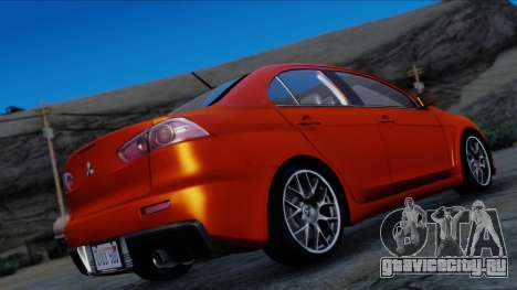 Mitsubishi Lancer Evolution X Tunable New PJ для GTA San Andreas вид слева