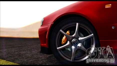 Nissan Skyline R-34 GT-R V-spec 1999 No Dirt для GTA San Andreas вид сзади слева