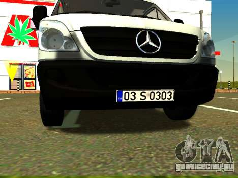 Mercedes-Benz Sprinter Long для GTA San Andreas вид изнутри