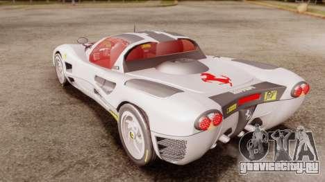 Ferrari P7 Horse для GTA San Andreas вид сзади слева