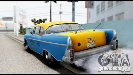 GTA 5 Declasse Cabbie v2 для GTA San Andreas вид слева